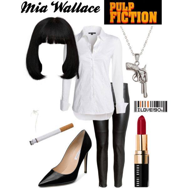 Mia Wallace - Pulp Fiction by coloradomom on Polyvore featuring NIC+ZOE, H&M, Diane Von Furstenberg, La Preciosa, Bobbi Brown Cosmetics, typeaparent and TypeACon