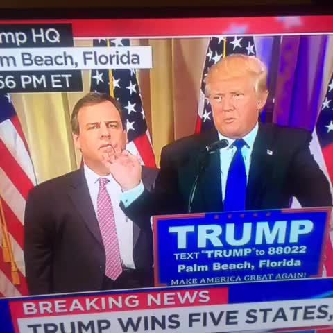"""Nick Robinson on Twitter: """"Chris Christie trying to figure out how the hell this happened to him #SuperTuesday"""