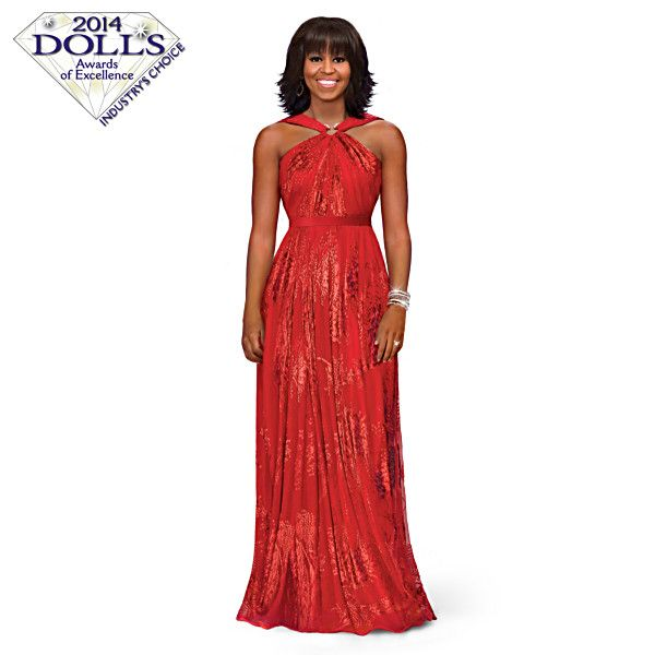 Michelle Obama Inaugural Ball Fashion Doll