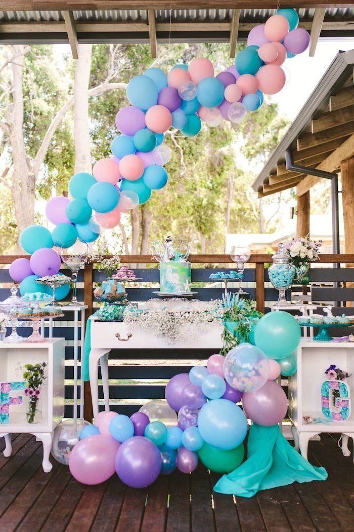 Whimsical Mermaid Birthday Party on Kara's Party Ideas | KarasPartyIdeas.com (11)