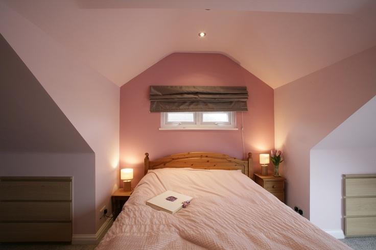 Modern pink master bedroom