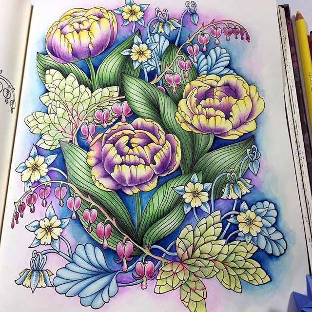 Pin On Adult Coloring Book - Flowers And Butterflies