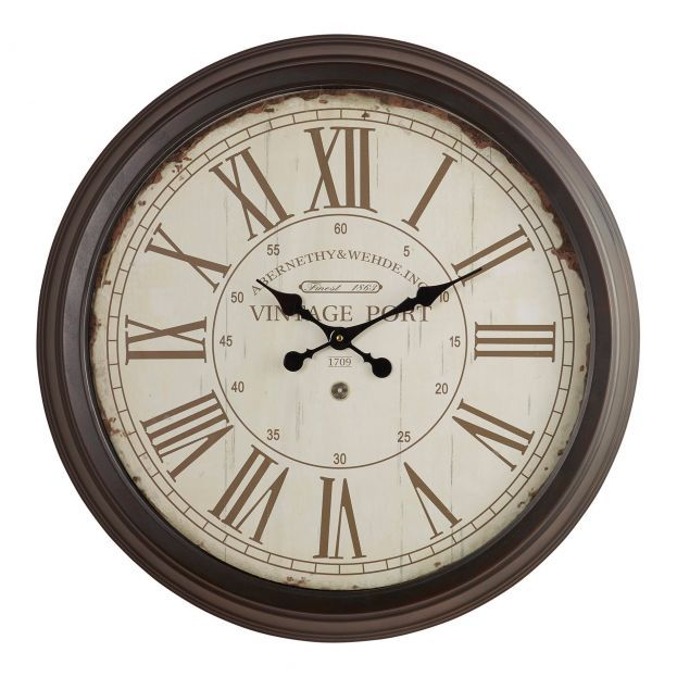 Hendon Wall Clock Home Accessories Oak Furnitureland Traditional Wall Clocks Wall Clock Silver Wall Clock