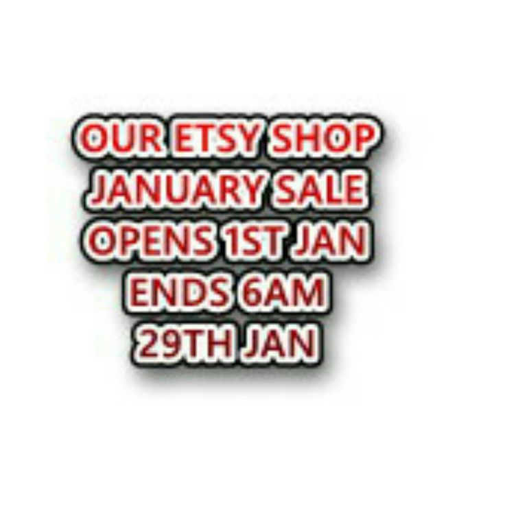 25% Discount off all our items. STARTS 6AM 1ST JAN TO 6AM 29TH JAN GMT. Dont miss out.