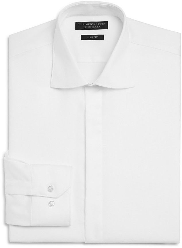 The Men's Store at Bloomingdale's Textured Slim Fit Tuxedo Shirt