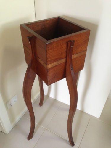 Vintage Wooden Planter Stand