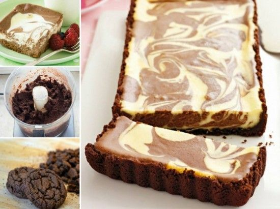 No Bake Chocolate Ripple Cheesecake
