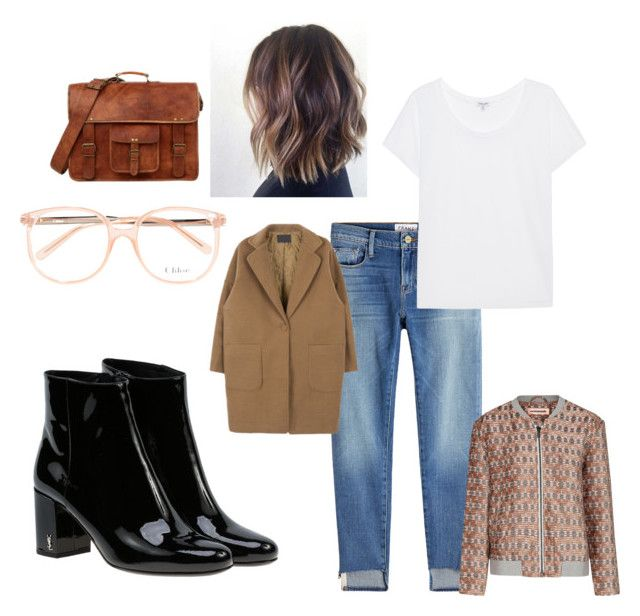 """Untitled #47"" by manjap on Polyvore featuring Frame, Chloé, Custommade, Splendid and Yves Saint Laurent"