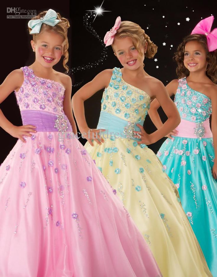 Hot Fashion Rainbow Pageant Dresses For Weddings Kids Evening Gowns Flower Girls 2013 F204