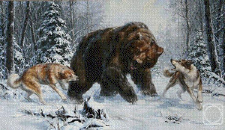 Охота на медведя - Схемы вышивки - bra_di - Авторы - Портал «Вышивка крестом»