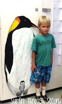 Compare yourself to an Emperor Penguin...this could be fun to incorporate into our penguin reading unit as a writing activity!