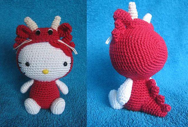 Ravelry: Poolvos' Hello Kitty - Dragon Zodiac