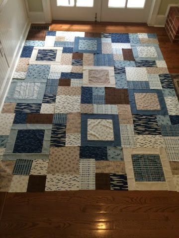 This week I cut, pieced, quilted and bound two quilts. Two complete quilts in one week! The first was a practice piece that I used to practi...