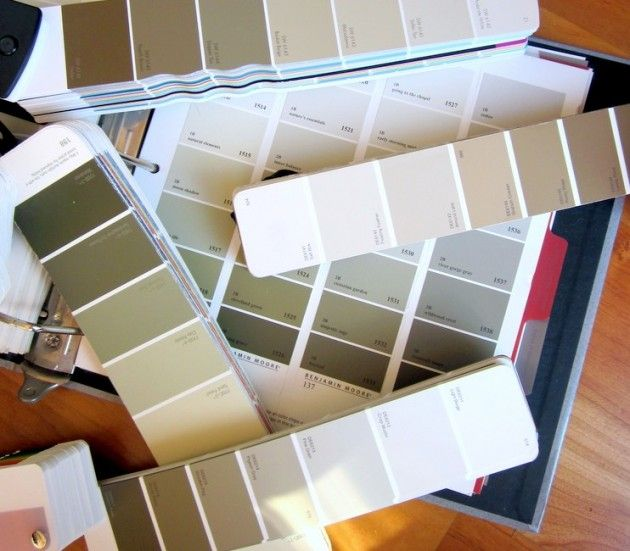 how to pick paint colors that flow from room to room-pick one paint strip you love and then use the varying shades on different walls within the house!
