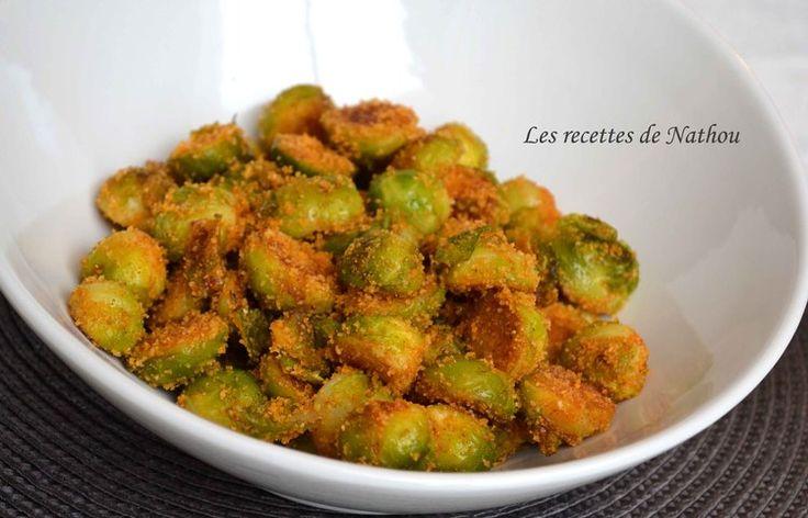 Choux de Bruxelles croustillants au paprika