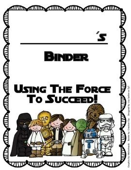 "These binder covers are perfect for any Star Wars themed classroom - There are two styles and both read ""Using the force to succeed""! Design #1 says: ____________'s Homework Binder, Design #2 says: ____________'s Binder.(suitable for any binder)"