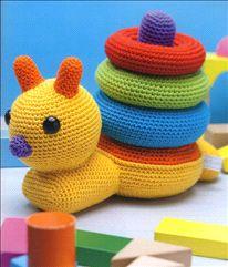 Patroon stapelslak. Fab crochet toy idea. #crochet
