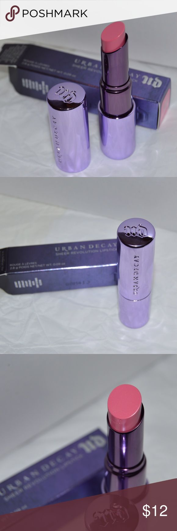 Urban Decay Sheer Revolution Lipstick Brand new - shade sheer obsessed Urban Decay Makeup Lipstick