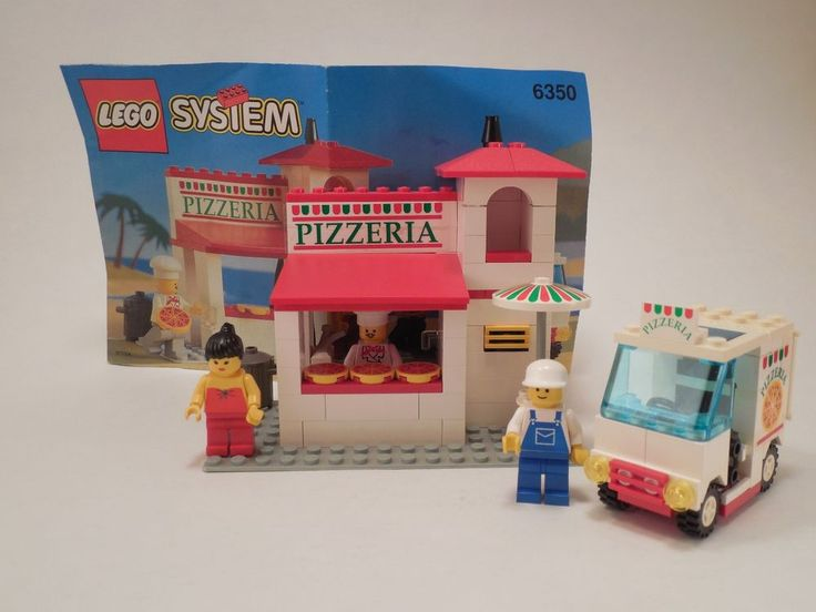 1994 LEGO System #6350 Pizza To Go Pizzeria 100% Complete Loose w/ Instructions #LEGO