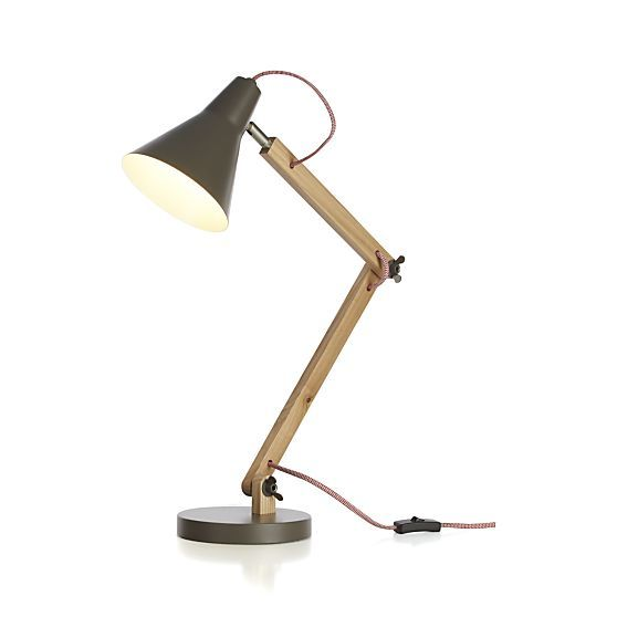 Rex Grey Task Lamp in Table & Desk Lamps | Crate and Barrel
