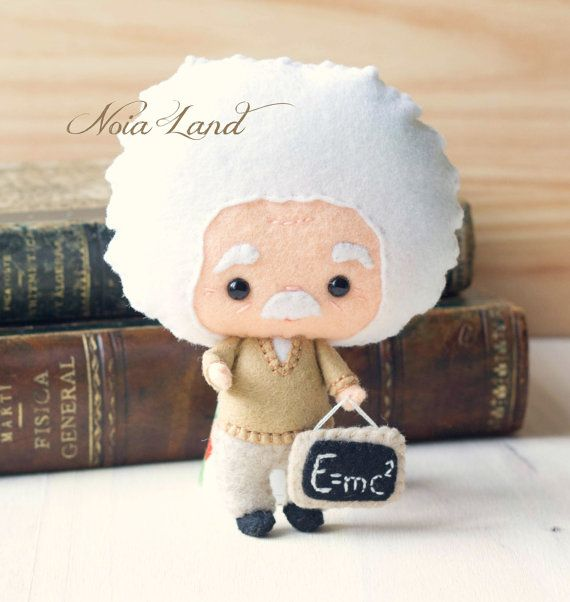 Albert Einstein. Patrón PDF. Muñeca de fieltro. por Noialand
