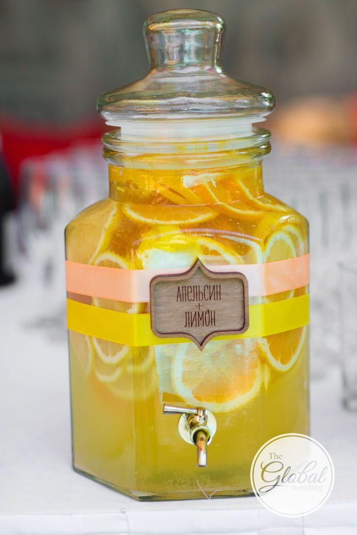 Citrus wedding Lemonade bar Wedding decor and floristic Цитрусовая свадьба Лемонад Декор и флористика