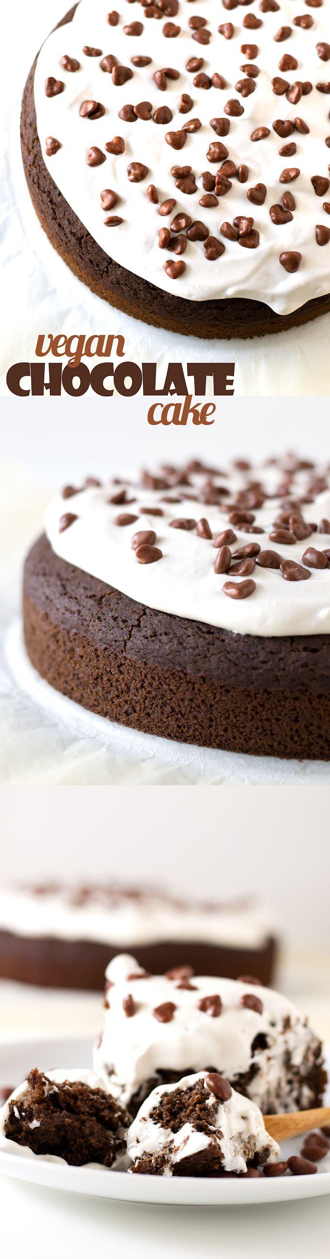 (Vegan and GF) Vegan Gluten Free Chocolate Cake #vegan #glutenfree