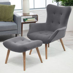 Belham Living Matthias Mid-Century Modern Chair and Ottoman - Accent Chairs at Hayneedle