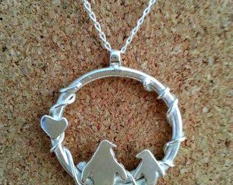 Argentium zilver Penguin hanger ketting door GorjessJewellery