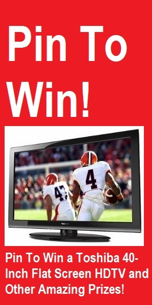 Pinterest Contest! Pin To Win a 40-Inch Flat Screen HDTV from MobStub Daily Deals! - More Amazing Prizes - Click To Go To The Entry Page!