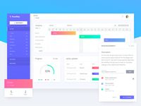 Project Management Dashboard Design for Managers & Clients