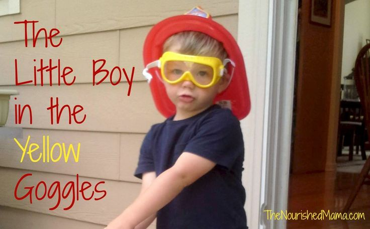 Little Boy in Yellow Goggles - On loving every part of our kids, even the parts that sometimes embarrass us. -The Nourished Mama