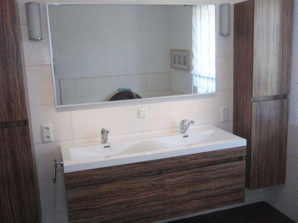 Doppel WASCHTISCH 144 Badezimmermöbel Waschplatz Badmöbel Nussbaum - badezimmermöbel villeroy und boch