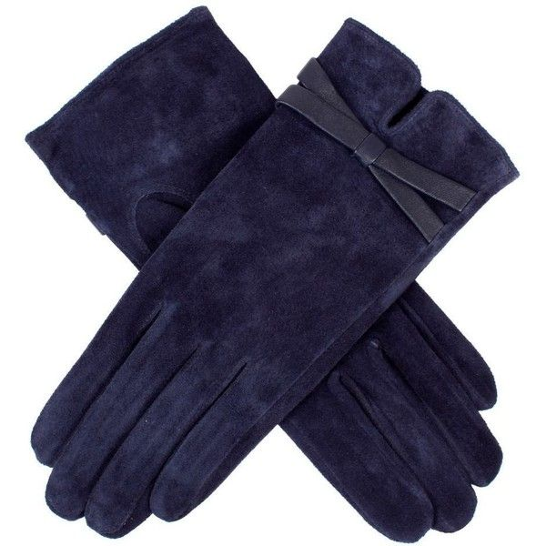 Women's Dents Suede Bow Touchscreen Gloves ($25) ❤ liked on Polyvore featuring accessories, gloves, аксессуары, перчатки, dents gloves, touch screen gloves, bow glove, lined gloves and suede gloves