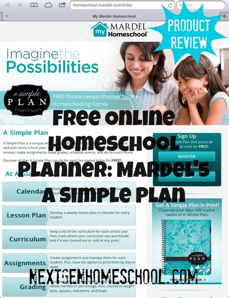 NextGen Homeschool: Free Online Homeschool Planner / Mardel Simple Plan Collection Giveaway