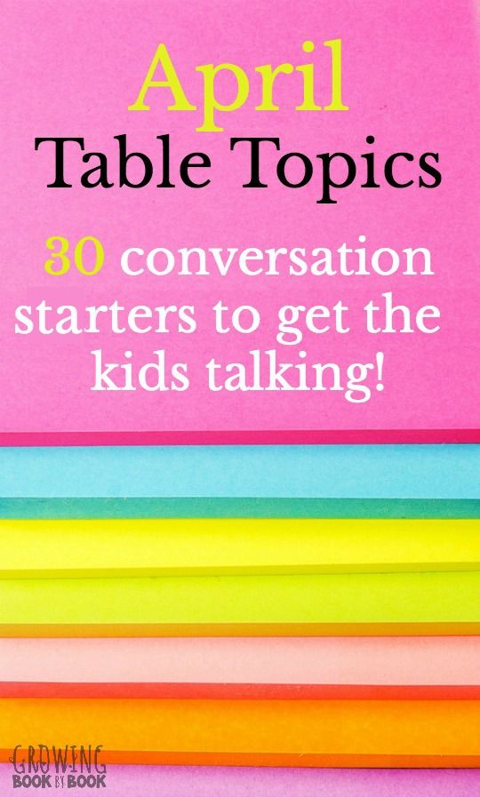 Table topics dating