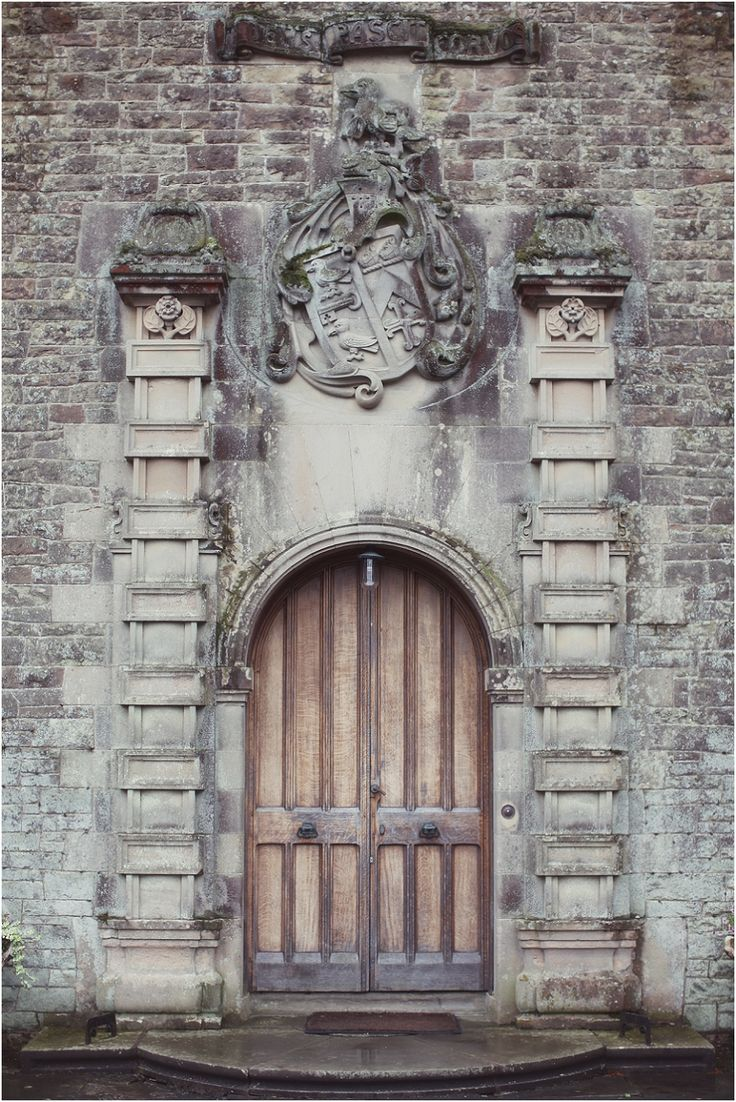 Front doors of the castle