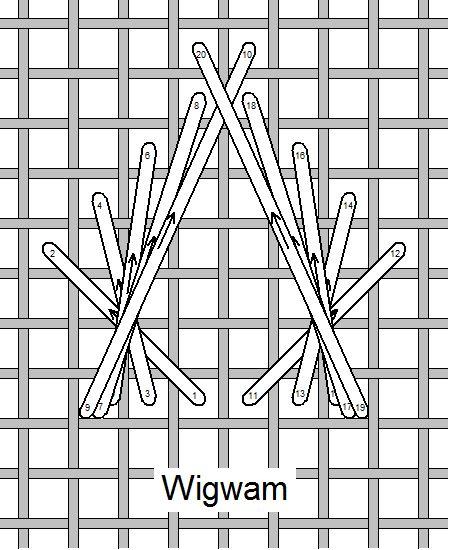 I ❤ embroidery . . . Wigwam Stitch, Stitch of the Month February 2011 ~By Needlelace