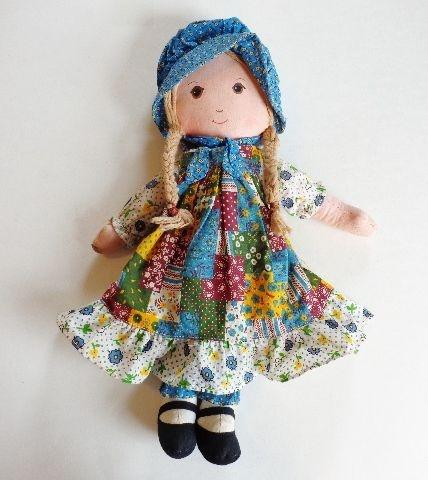 "Original Knickerbocker Vintage 1970's 16"" Holly Hobbie Cloth Doll from vfv on Ruby Lane  $18    http://www.rubylane.com/item/676693-D150/Original-Knickerbocker-Vintage-1970s-16"