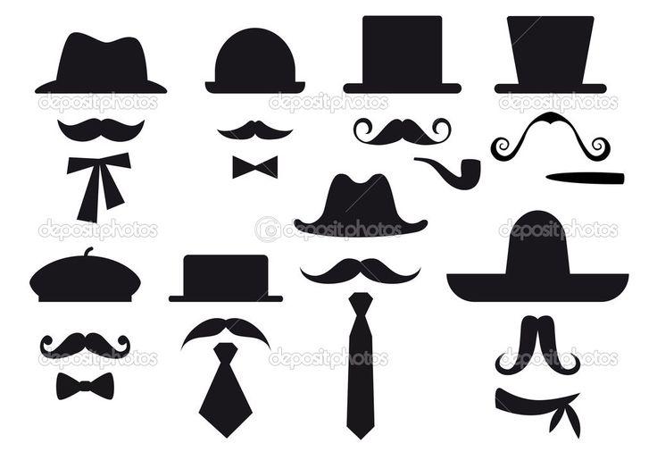 Herunterladen - Schnurrbart und Hüte, Vektor Gruppe — Stockillustration #8923142