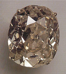This 10.73-carat brilliant is not, by ordinary standards, exceptional. However, it was cut from the first diamond found in South Africa and therefore has historical significance