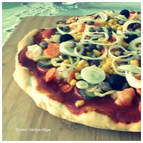 Pizza vegán módra - Színek Varázsvilága
