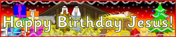 Happy Birthday Jesus display banners (SB6458) - SparkleBox