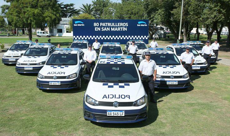 Volkswagen Gol . Patrulla municipal de San Martin , Provincia de Buenos Aires .