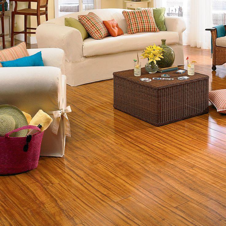 hawaiian koa laminate flooring brings the look of an exotic hardwood home in an easy care mannington