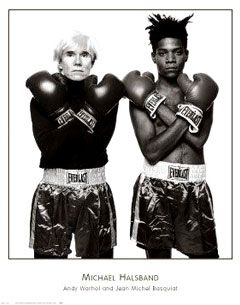 Andy Warhol & Jean-Michel Basquiat by Richard Avedon