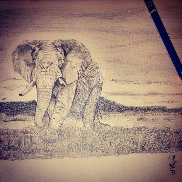 Elephant by iLMostro2 on DeviantArt