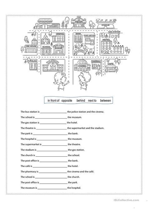 Prepositions of place worksheet - Free ESL printable worksheets made ...