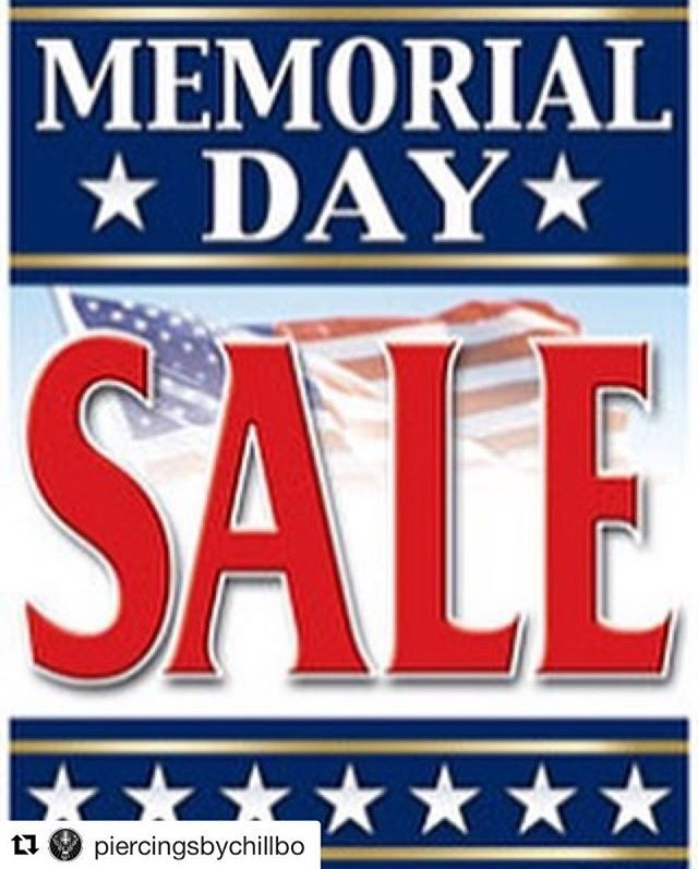 #Repost @piercingsbychillbo with @repostapp ・・・ Running a MEMORIAL DAY SPECIAL!!!! ALL BASIC PIERCINGS $30!!!! MONDAY ONLY!! CASH ONLY!! *EXCLUDES GENITALS! Only at @mb_tattoo TELL ALL YOUR FRIENDS!!! THIS IS A ONE DAY SPECIAL!  #missionbeach #pacificbeach #oceanbeach #lajolla #sandiego #california #piercings #sdpiercings #sdpiercing #bodypiercing #bodymodification #septumpiercing #nosepiercing #sdsu #ucsd #usd #plnu #memorialweekend2017 #sandiegomemorialday #supportyourlocalpiercer…