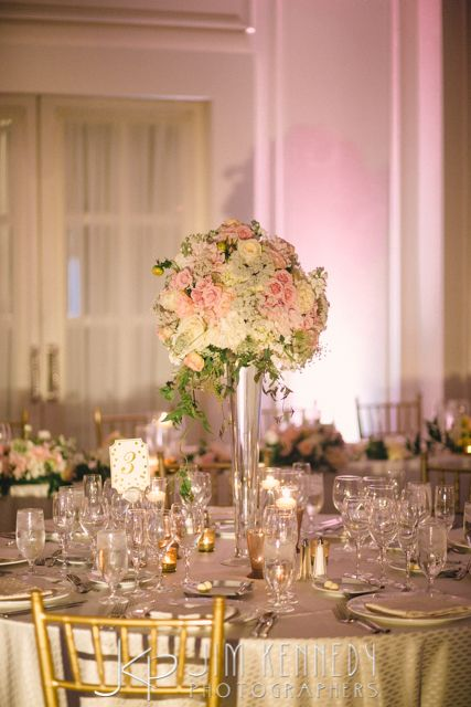 Pink and white wedding reception at this Ritz Carlton Laguna Niguel Wedding | Engaged Events | Jim Kennedy Photographers